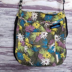 Kavu Green floral Limited Edition rope strap cross